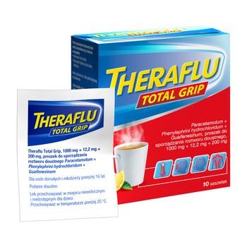 Theraflu Total Grip, proszek do sporządzania roztworu doustnego, 10 saszetek