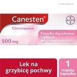 Canesten, 500 mg, kapsułki dopochwowe miękkie, 1 szt.