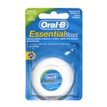 Oral-B Essential Floss, nić dentystyczna woskowana, miętowa, 50 m