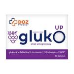 DOZ PRODUCT GlukoUp, tabletki do ssania, smak winogronowy, 10 szt.