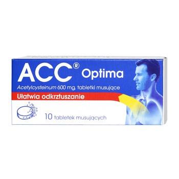 ACC Optima, 600 mg, tabletki musujące, 10 szt.