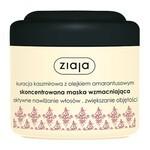 Ziaja, kuracja kaszmirowa z olejkiem amarantusowym, skoncentrowana maska wzmacniająca do włosów, 200 ml