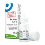 Hyabak, 0,15%, nawilżające krople do oczu i soczewek kontaktowych, 10 ml
