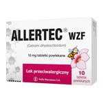 Allertec WZF, 10 mg, tabletki powlekane, 10 szt.