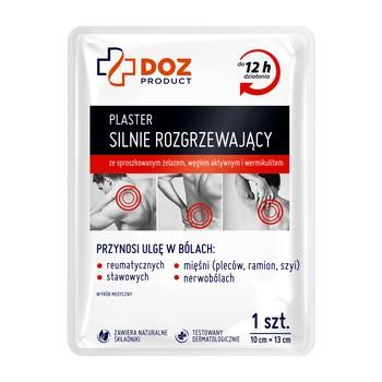 DOZ Product, plaster silnie rozgrzewający, 10 cm x 13 cm, 1 szt.