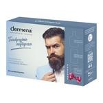 Zestaw Promocyjny Dermena Men, szampon, 200 ml + krem regenerujący na noc, 50 ml + łagodzący żel do mycia twarzy, 150 ml GRATIS