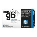 Maxigra Go, 25 mg, tabletki do rozgryzania i żucia, 8 szt.