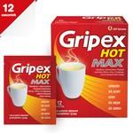 Gripex Hot MAX, proszek do sporządzania roztworu doustnego, 12 saszetek