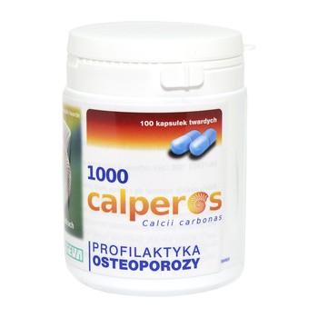 Calperos 1000, 400 mg jonów wapnia, kapsułki twarde, 100 szt.