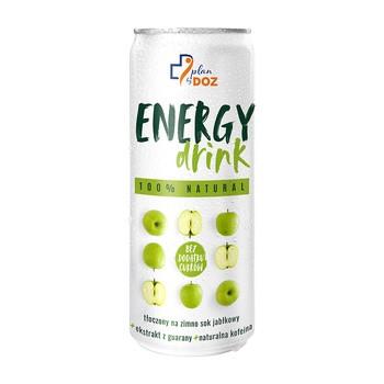 Plan by DOZ Energy Drink, 100% Natural, o smaku jabłkowym, 250 ml