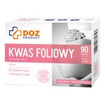 DOZ PRODUCT Kwas foliowy, tabletki, 90 szt.