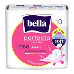 Bella Perfecta Ultra Rose, ultracienkie podpaski, zapachowe, 10 szt.