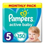 Pampers Active Baby 5, (11-16 kg), 150 szt.