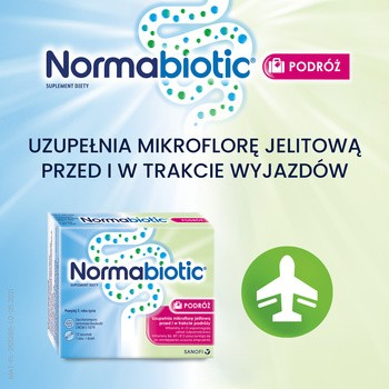 Normabiotic Podróż, saszetki, 12 szt.