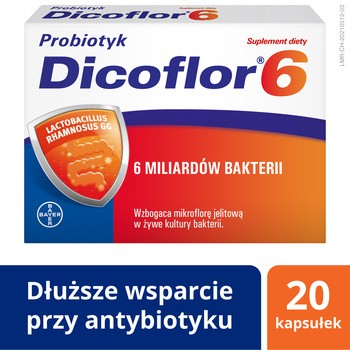 Dicoflor 6, kapsułki, 20 szt.