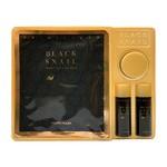 Zestaw Promocyjny, Holika Holika Black Snail Skin Care Kit, hydrożelowa maska + nawilżający krem, 18 ml + lekka emulsja, 31 ml + tonik, 31ml, 1 op.