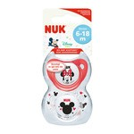 NUK Trendline Myszka Miki, silikonowy smoczek uspokajający 6-18m, 2 szt.