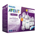 Avent Natural, zestaw dla noworodków - butelki i smoczki