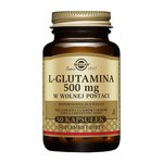 Solgar L-Glutamina, 500 mg, kapsułki, 50 szt.