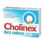 Cholinex, 150 mg, pastylki do ssania (bez cukru), 24 szt.