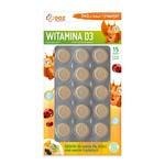 DOZ PRODUCT Witamina D3, tabletki do ssania dla dzieci, smak owoców tropikalnych, 15 szt.