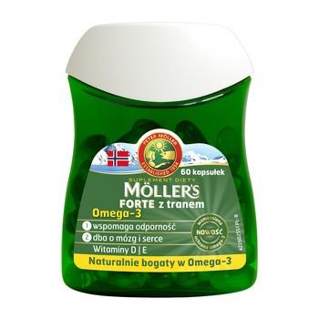 Mollers Forte z tranem, kapsułki, 60 szt.