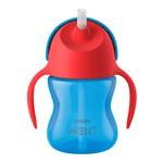Avent, kubek z giętką słomką, niebiesko-czerwony, 200 ml, 1 szt.