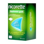 Nicorette Freshmint Gum, 2 mg, gumy do żucia, 105 szt.