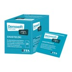 Demoxoft Plus Clean, chusteczki do specjalistycznej higieny powiek i skóry wokół oczu, 20 szt
