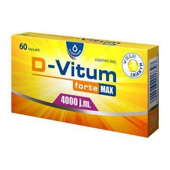 D-Vitum Forte Max 4000 j.m, kapsułki, 60 szt.