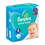 Pampers Active Baby 4, (9-14 kg),  25 szt.