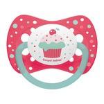 Canpol Babies, smoczek silikonowy, symetryczny, Cupcake, różowy, 18m+, 1szt.