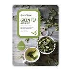 SeaNTree Green Tea Mask Sheet, maseczka na bawełnianej płachcie z ekstraktem z zielonej herbaty, 20 ml